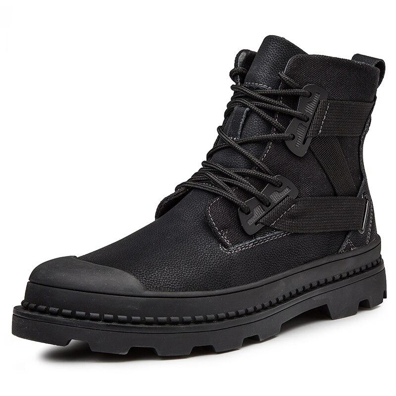 Men's Shoes Shoes Men 2019 Boots British Martins Vintage Punk Winter Warm Shoes For Martins Skateboarding Shoes Desert Boots 25d50 Superior Materials