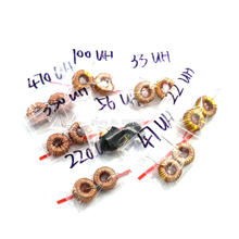 Bobina de indução magnética para indução, indução toroidal e indução de enrolamento para lm2596, 8 valores variedade, 16/pçs/lote 3a