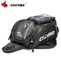 CUCYMA Motorcycle Bag Moto Tank Bag Mobile Phone Navigation Bag Multifunctional Oil Reservoir Package Magnetic Fixed Straps #