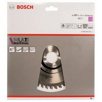 BOSCH 2608640519 Disk dairesel testere Multimateryal 165x2 4x30/20D 42TR-F