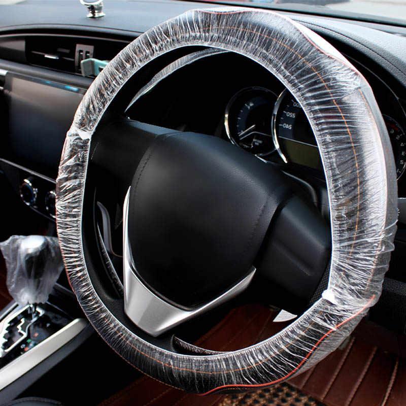 Nuoxintr 100 개/대 보편적으로 자동차 소프트 시트 이동 레버 이동 레버 커버 일회용 플라스틱 차량 유지 보수 아름다움