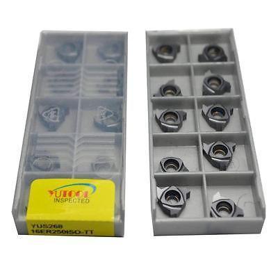 YUTOOLS Thread Carbide insert 16ER 250 ISO 2.5 CNC Milling Turning insert 10pcs