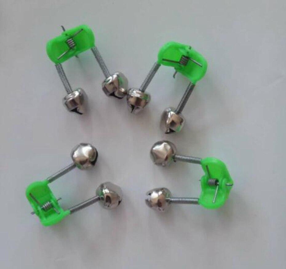 YINGTOUMAN 1 шт./лот рыболовный колокольчик рыболовная сигнализация Светящийся Металлический пластиковый материал диаметр 16 мм зеленые рыболов...