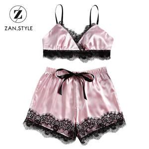 f16b375056aaf2 STYLE Sexy Women S Set 2pcs Lace High Waist Mini Shorts
