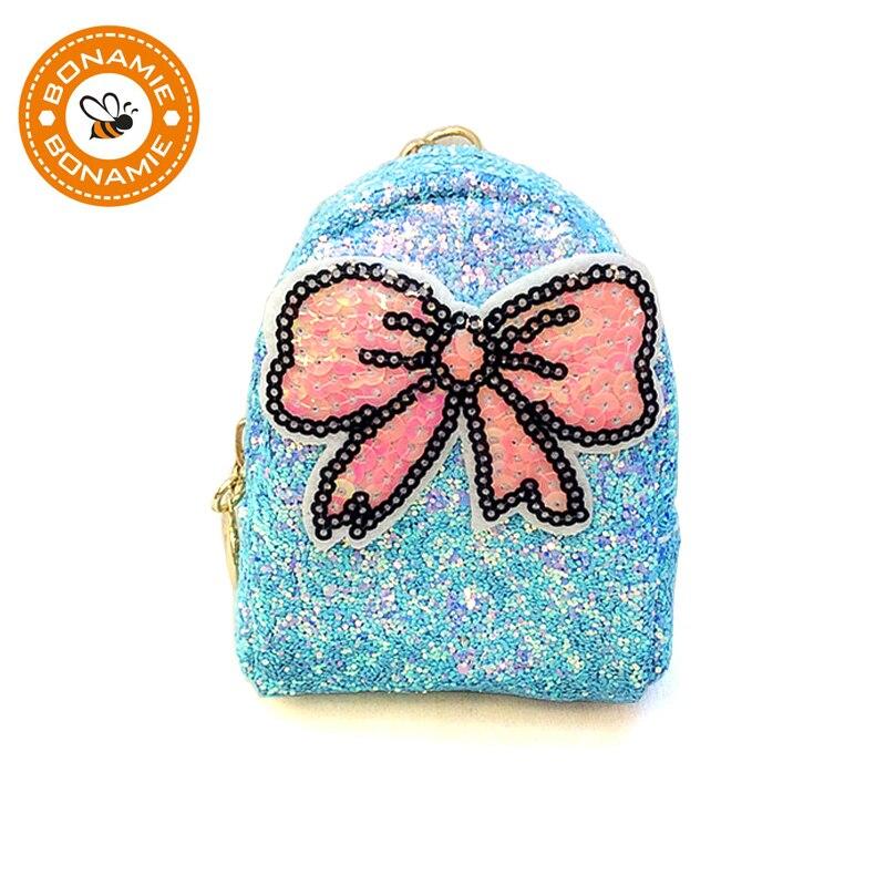 BONAMIE 2018 Fashion Women Sequin Bowknot Coin Purse Wallet Small Paillette Girl Key Bag Unique Lady Clutch Bag Mini Beach Bags