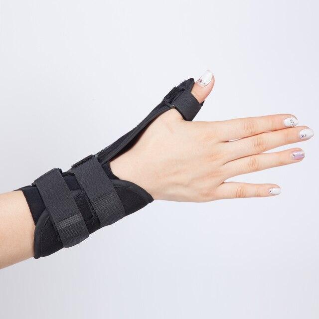 Barras de acero de la muñeca acolchada and inmovilizador fractura férula  pulgar esguince apoyo wraps muñequera d4c555743506