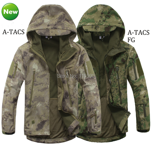 2017 MULTICAM BLACK Waterproof Softshell Tactical Jacket V4 TAD Hunting Hoodie
