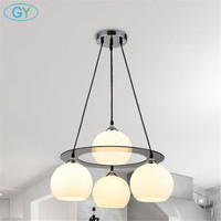 New Modern Glass Lampshade Pendant Lights Dining Room Kitchen Meal Hanging Lamps E27 110 220V Lustre