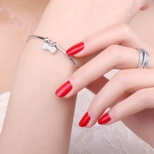 Bow Knot Crown Charm Sterling Silver Bangle Bracelet Jewelry