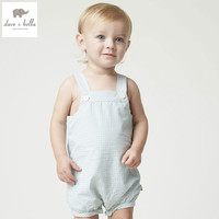 DB4889 Dave Bella Summer New Born Baby Girls Cotton Romper Childs Infant Romper Kids Lovely Rompers