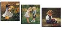 3 unidades figura de la historieta pintura de la lona impresiones moderno cuadro decorativo del arte de la pared para niños decoración de la habitación del bebé y de la muchacha