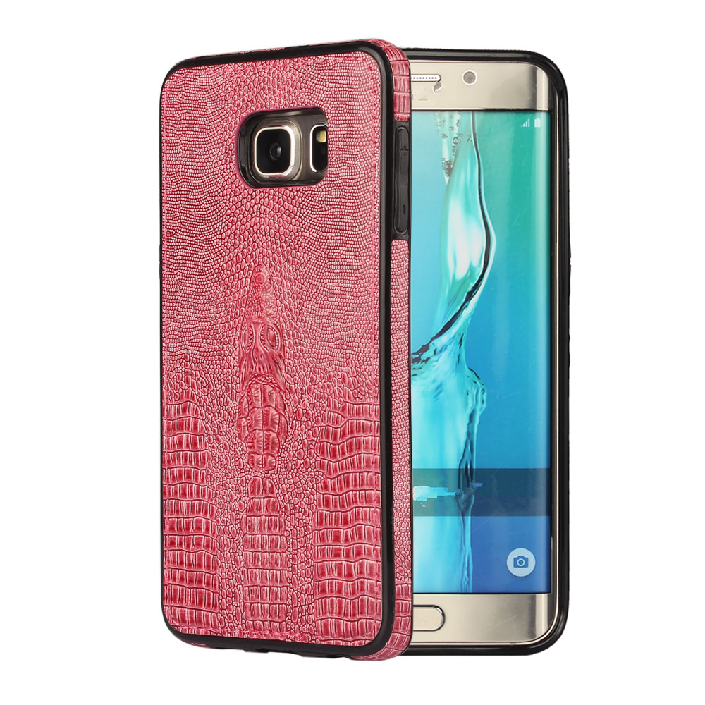 szHAIyu G928 Cover -- 3D Crocodile Head Pattern PU Leather Mobile Phone Case For Samsung S6 Edge Plus Back Cover Shell