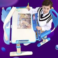 Регулируемый по высоте учебный стол для детей и стул детская
