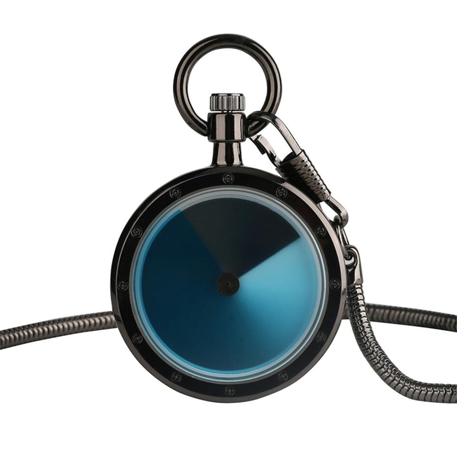 Vintage Violet Retro Dial Pocket Watch Men Women Creative Gradual Change Turntable Color Case Quartz Clock Reloj De Bolsillo
