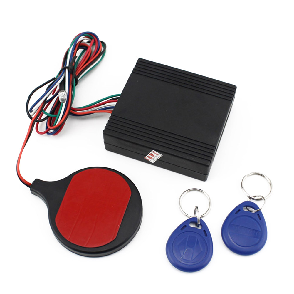 1Set Motorbike Security System ID Card Lock Invisible Anti-theft Security Alarm System Car Styling