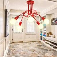 Multicolor Simple Creative ceiling lamp vintage modern brief led chandelier light E27