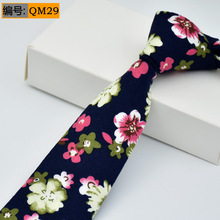 Cotton Ties For Men Fashion Necktie Flower Skinny 6cm Width Tie New Design Paisley Mens Tie Small Casual Cravat