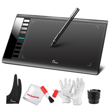 Tableta Digital Parblo A610 tableta de dibujo gráfico 5080 resolución LPI tableta Pad para dibujo + Kit de limpieza