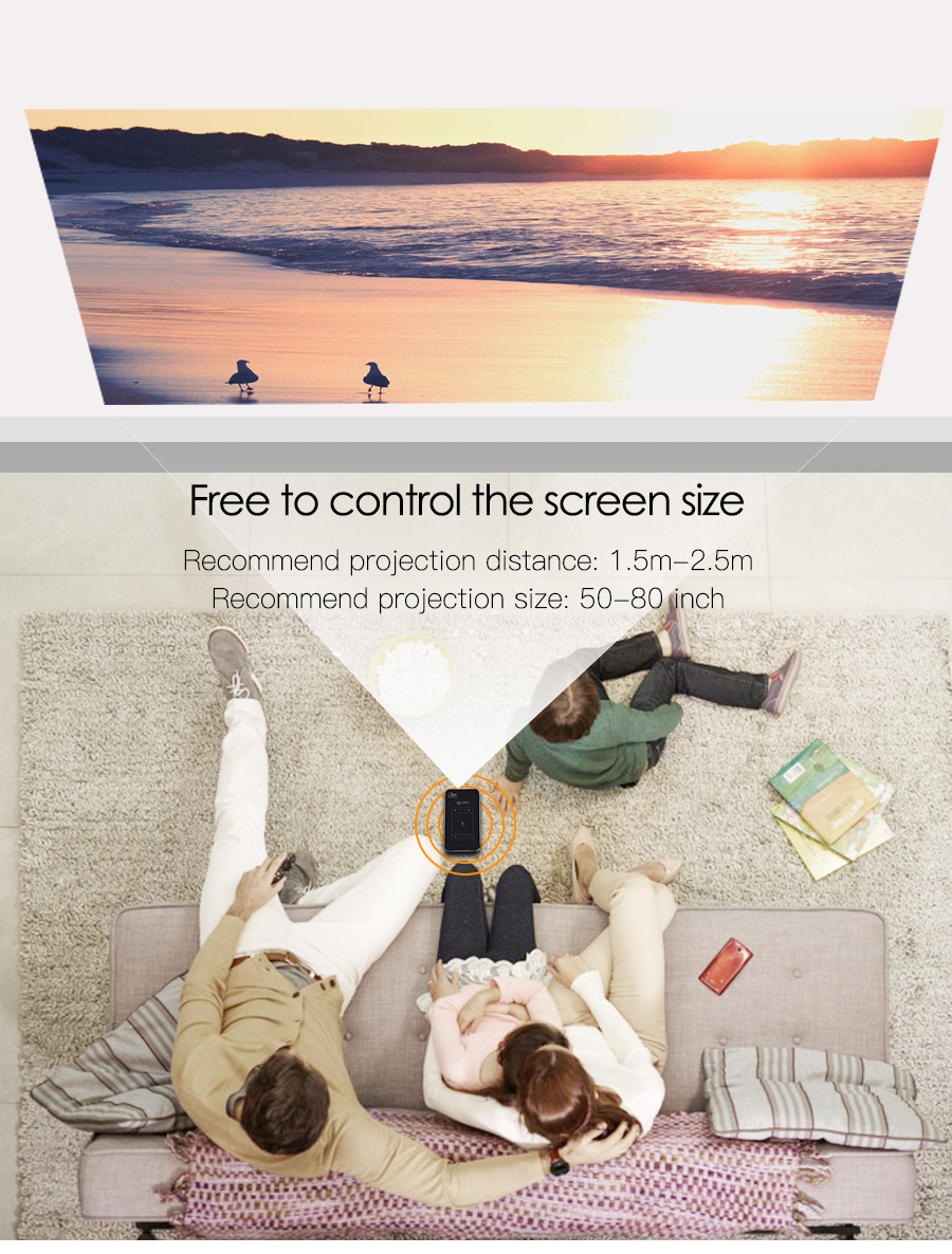 AODIAN AODIN 1+32G Portable Projector Smart Multi-touch HD 1080P DLP Projector HDMI IN mini Pocket Projector LED Android Home Theater M8S Pico projector-15
