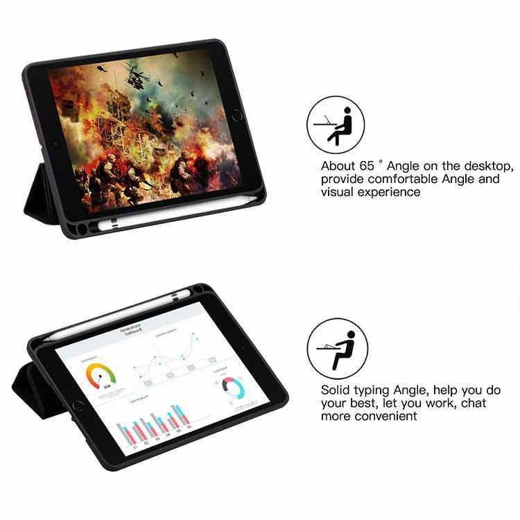 Funda para iPad Mini 5 2019 funda inteligente Auto Sleep/Wake ligero soporte funda trasera dura para iPad Mini 5