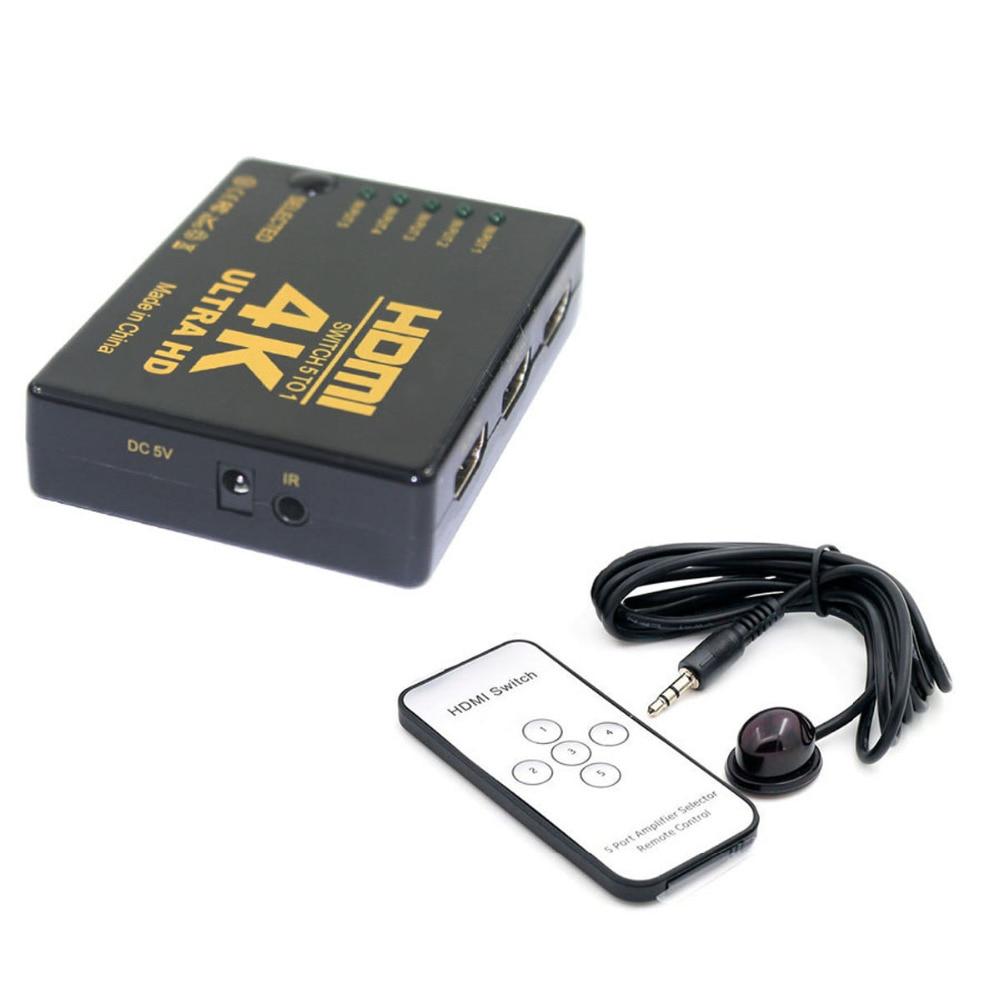 2 K 5-in-1 Out Hdmi Hub Switch Splitter Tv Switcher W/ir Fernbedienung Ultra Hd Hdmi Splitter Schalter Lassen Sie Unsere Waren In Die Welt Gehen 4 K Kvm-switches Computer & Büro