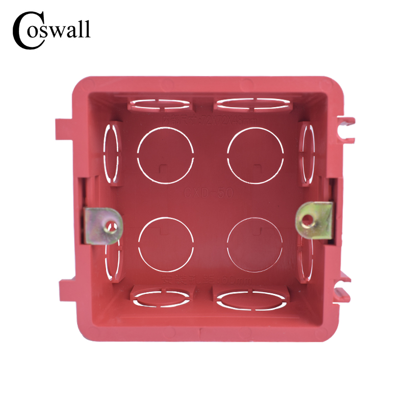 Plastic Wall Plate wall mounting junction box type 86 Switch Cassette outlet wall switch box,enclosure flush Back box Red White plastic rod spring wobble stick type momentary enclosed limit switch