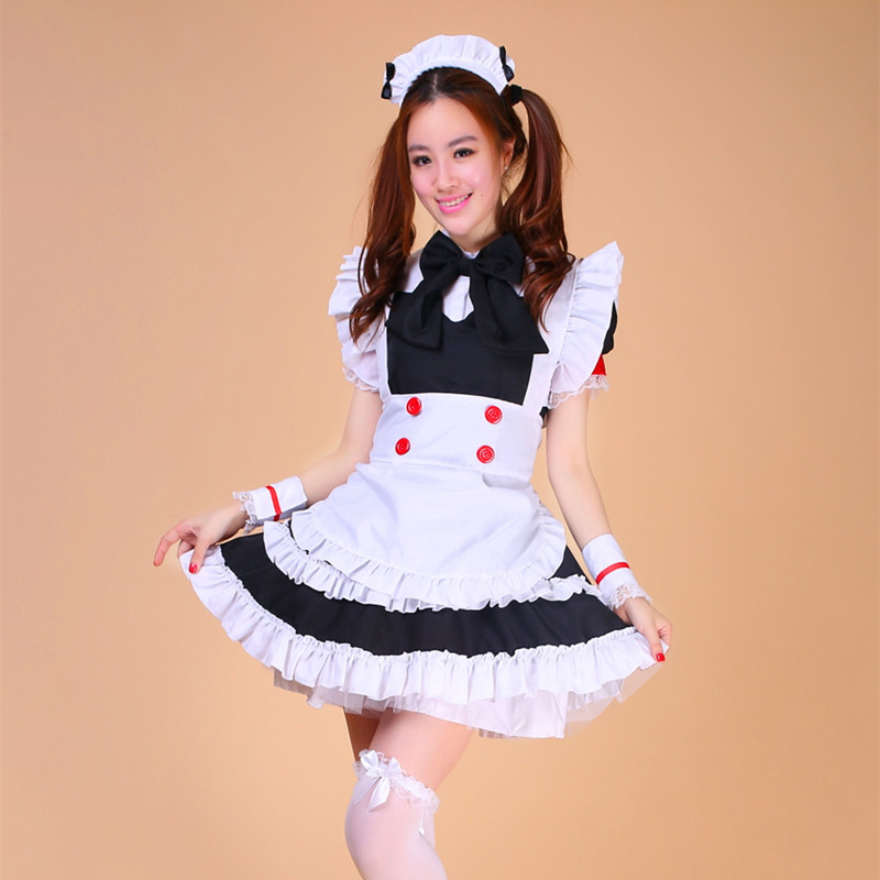 high quality maid costume Sweet Gothic Lolita Princess Dress Anime Cosplay Sissy Maid Uniform Plus Halloween Costumes For Women