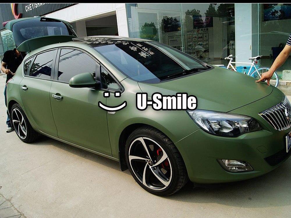 Матовый зеленый Обертывание Матовый армейский зеленый виниловый автомобильный обертывание армейский зеленый матовый обертывание воздушн