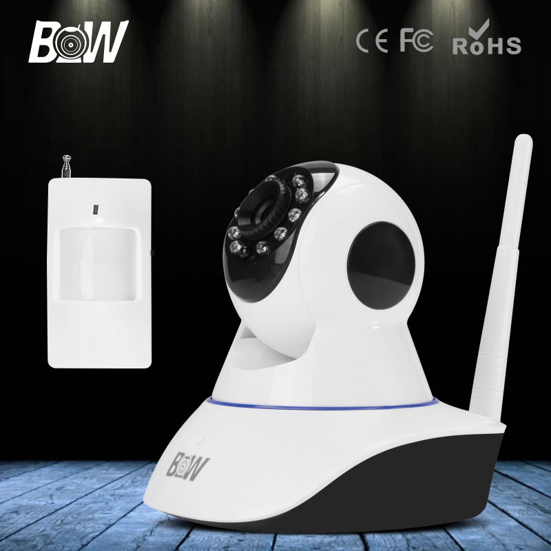BW IP Camera WiFi 720P ONVIF Wireless Video Surveillance Security CCTV Cam HD IR Night Vision with Infrared Motion Sensor Alarm