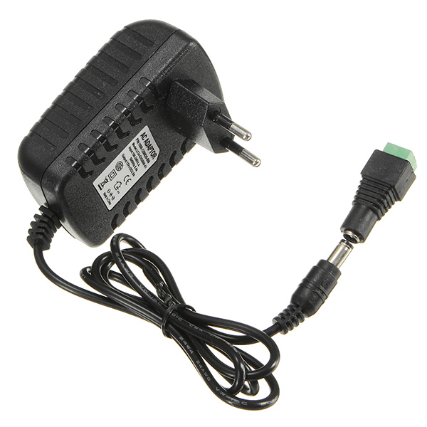 AC100-240V TO DC12V 2A 24W Power Supply Adapter With Female Connector For Strip Light yk 16 waterproof power supply adapter for ccd camera black ac100 240v