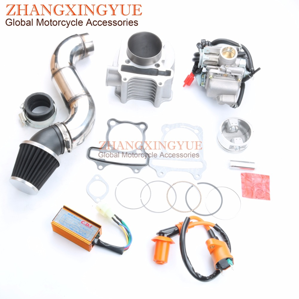 61mm Cylinder kit 42mm air filter PD24J carburetor AC CDI for GY6 150cc upgrade to 180cc 157QMJ 4T 61mm Cylinder kit 42mm air filter PD24J carburetor AC CDI for GY6 150cc upgrade to 180cc 157QMJ 4T