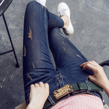 Fashion Jeans women large and thin size women pants slim jeans woman tights lady Jeans S-XL plus size jeans for women N22