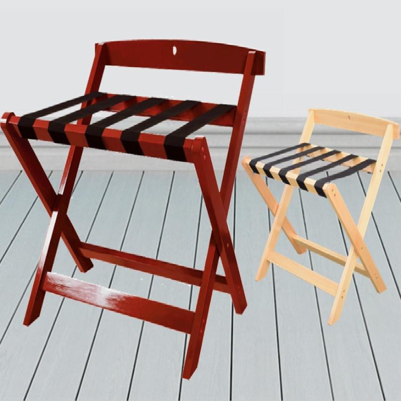 Отель деревянный багажный держатель багажный кронштейн багажная стойка Складная - Цвет: red