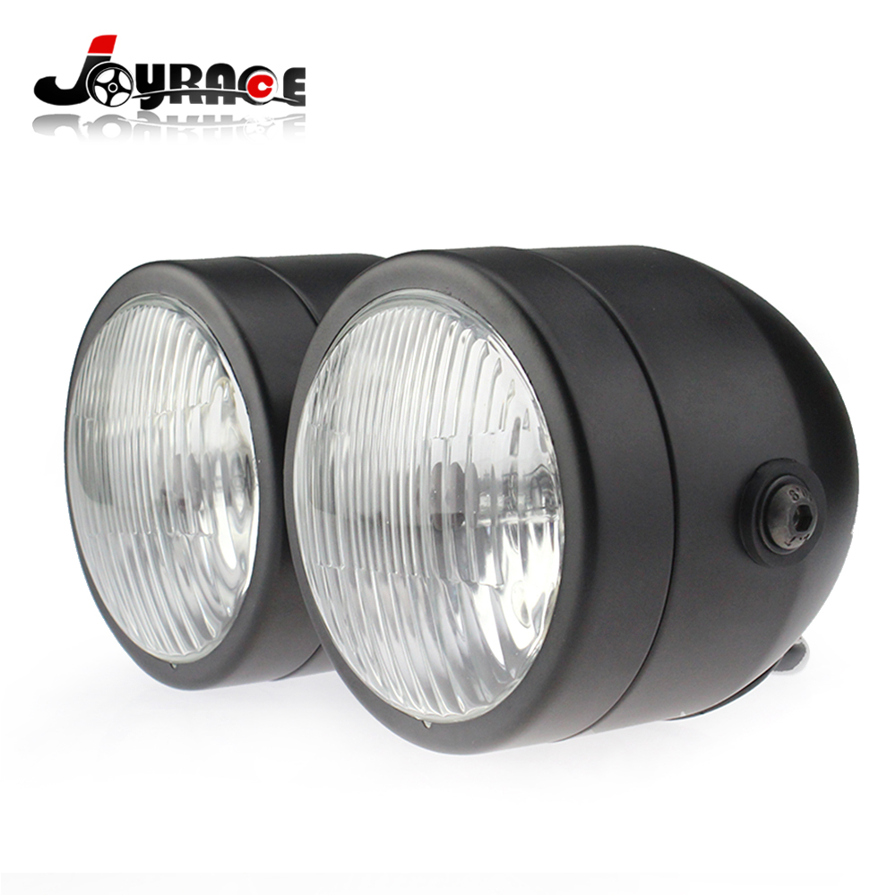 2016 Motorcycle 8.5 Inched Front Light H4 Dual Twin Headlight 60W/55W 12V Dominator Tracker Streetfighter ...