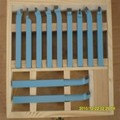 10*10 мм 11 шт. прецизионный токарный инструмент из твердого сплава, токарный инструмент наборы резак, режущие инструменты с деревянным корпус...