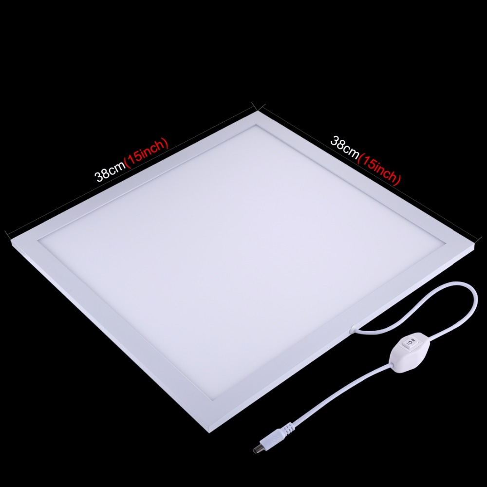 PULUZ Shadowless Bottom Light 1200LM LED Photography Switch Acrylic Material No Polar Dimming Light 38*38*1cm