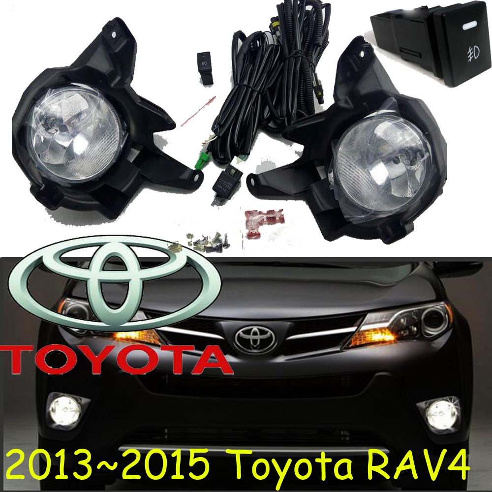 RAV4 fog light,2013~2015,2pcs/set+wire of harness,RAV4 halogen light,Free ship! RAV4 headlight; RAV 4 2011 2013 golf6 fog light 2pcs set wire of harness golf6 halogen light 4300k free ship golf6 headlight golf 6