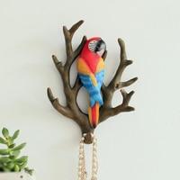 Hanging hook door key American receiving clothes hook entrance wall decoration retro resin animal