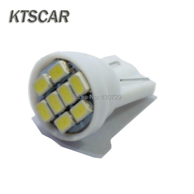 500pcs Promotion Led T10 8 Smd 1206 8leds 8SMD Car Light 194 168 192 W5W 3020 Auto Wedge White Clearance Lights DC 12V Wholesale