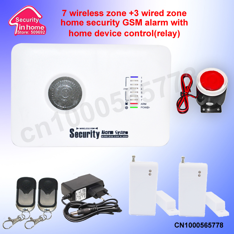 wireless wired home security GSM alarm system auto dial SMS burglar fire simple packing - Mike discount online store