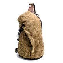 Водонепроницаемый батик груди пакет ретро брюки для мужчин холст сумка Досуг Сумочка для пышек