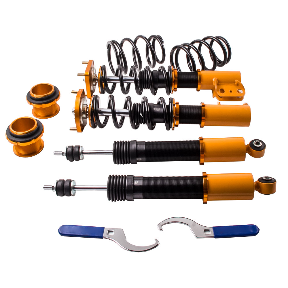 Coilovers Kits for Ford Mustang 4th 94-04 Adjustable Height Top Mounts Golden