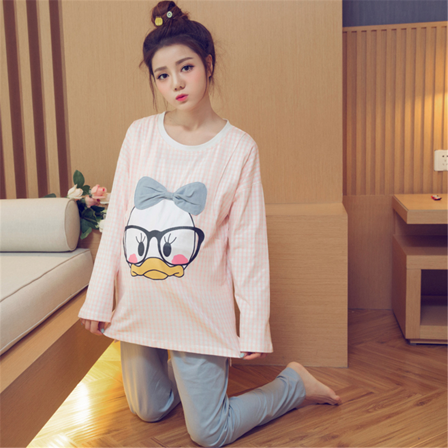 Korean Maternity Clothes Pregnancy Autumn Cotton Pregnant Long Sleeve Pajamas Soft Cute Casual Pregnant Clothes Summer 702167 qfn52 mlf52 wlcsp52 burn in ic test socket with clamshell np506 052 052 g adapter pitch 0 4mm chip size 7 7 programming socket