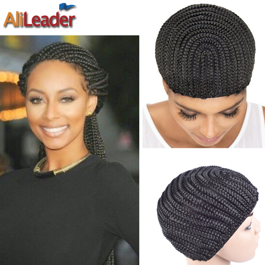 Fashion cornrow wig caps for making wigs with combs on side 1pc fashion cornrow wig caps for making wigs with combs on side 1pc black braided weave cap invisible mesh hair net free shipping in hairnets from hair pmusecretfo Images