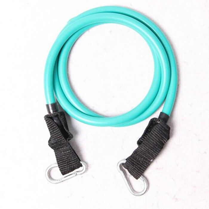 modstand bands grøn elastik stretch træning tube metal pull reb for yoga pilates træning til freeshipping
