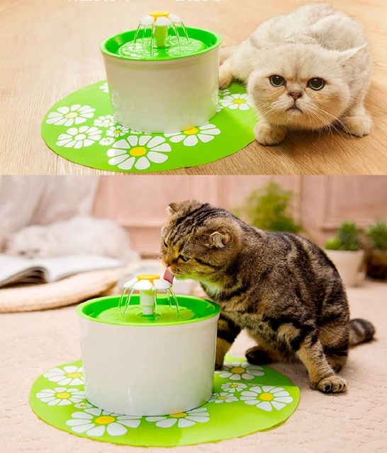 Automatic Cat Water Fountain For Pets Water Dispenser Large Spring Drinking Bowl Cat Automatic Feeder Drink Filter 1.6L 3 Colors 1