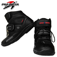 Good quality Motorcycle Sports Shoes boots for women man Leather black color