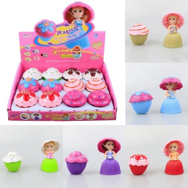 1pc Mini Cartoon Cute Cupcake Princess Doll Transformed Beautiful Cake Toys For Children Kids Girl Birthday Christmas Gifts