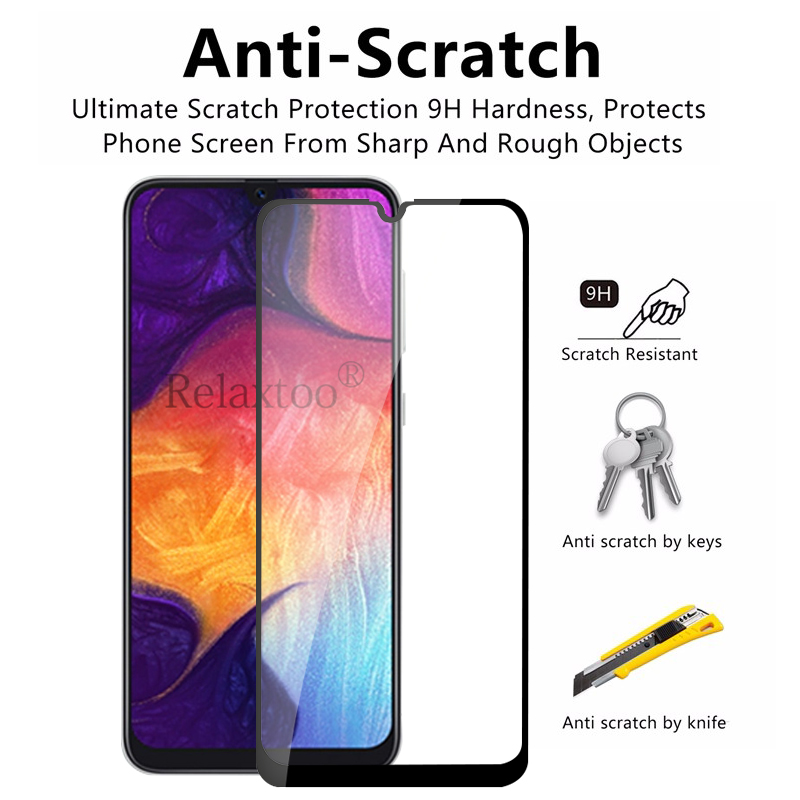 Image 3 - Protective Glass on the For Samsung Galaxy A50 A40 A30 A60 A70 2019 Screen Protector sumsung galax a 70 40 50 Tempered Glas Film-in Phone Screen Protectors from Cellphones & Telecommunications