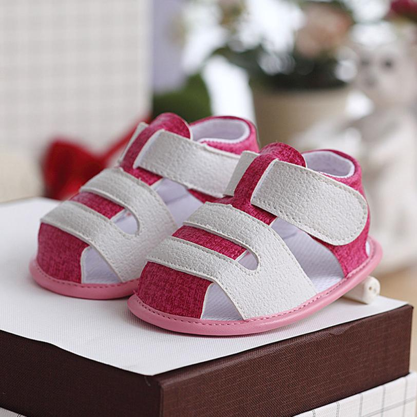 Summer Newborn Baby Girls&Boys Cute Sandals fashion Style Breathable Shoes Cute Cartoon Anti-Slip Footwear Shoes 0-18M Cherryb